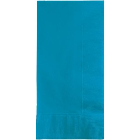 Touch of Color Dinner Napkins, 2-Ply, 1/8 Fold, Turquoise, 50 Ct ()