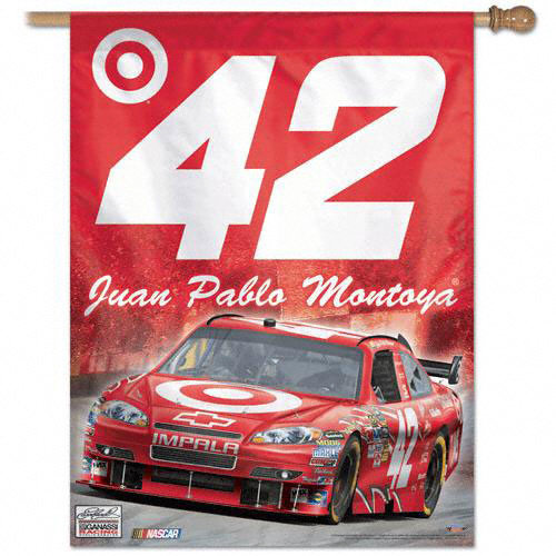 Juan Pablo Montoya Vertical Flag: 27x37 Banner