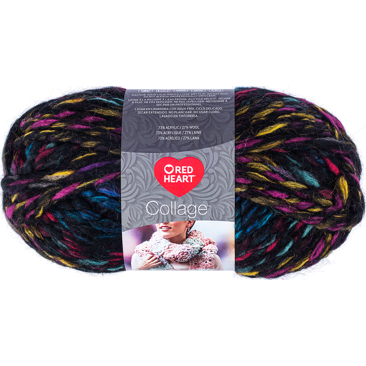 Red Heart Collage Stained Glass Yarn, 55 Yd.