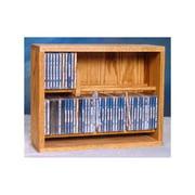 18.25 in. Dowel CD Storage Rack (Honey Oak)