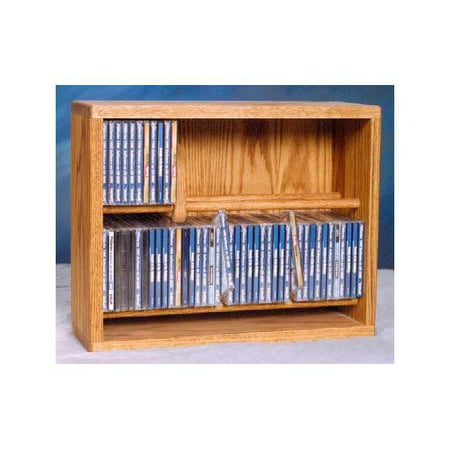 18.25 in. Dowel CD Storage Rack (Honey Oak)