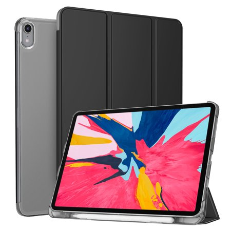 big sale 4215d 8436b Fintie iPad Pro 11 inch Translucent Case with Apple Pencil Holder Slimshell  Cover 2018 Release, Black