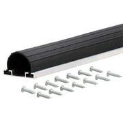 M-D Products 87668 18' Black Universal Aluminum and Rubber Garage Door Bottom