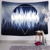 Meigar Landscape Wall Tapestry Sunset Forest Tapestry Bedspread Wall Hanging Tapestry Black and White Hippie Tapestry Wall Dorm Decor for Bedroom 51x60 Inches
