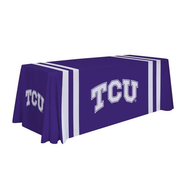 Victory Corps 810026TCU-002 6 ft. NCAA TCU Horned Frogs Table Throw - No.002