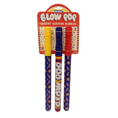 Blow Pop Cherry Scented Bubble Wands, 3 Pack (Pop Bumble)