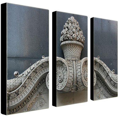 "Trademark Fine Art ""New Orleans Fruit III"" Canvas Art by Patty Tuggle, 3-Piece Panel Set, 14x32"