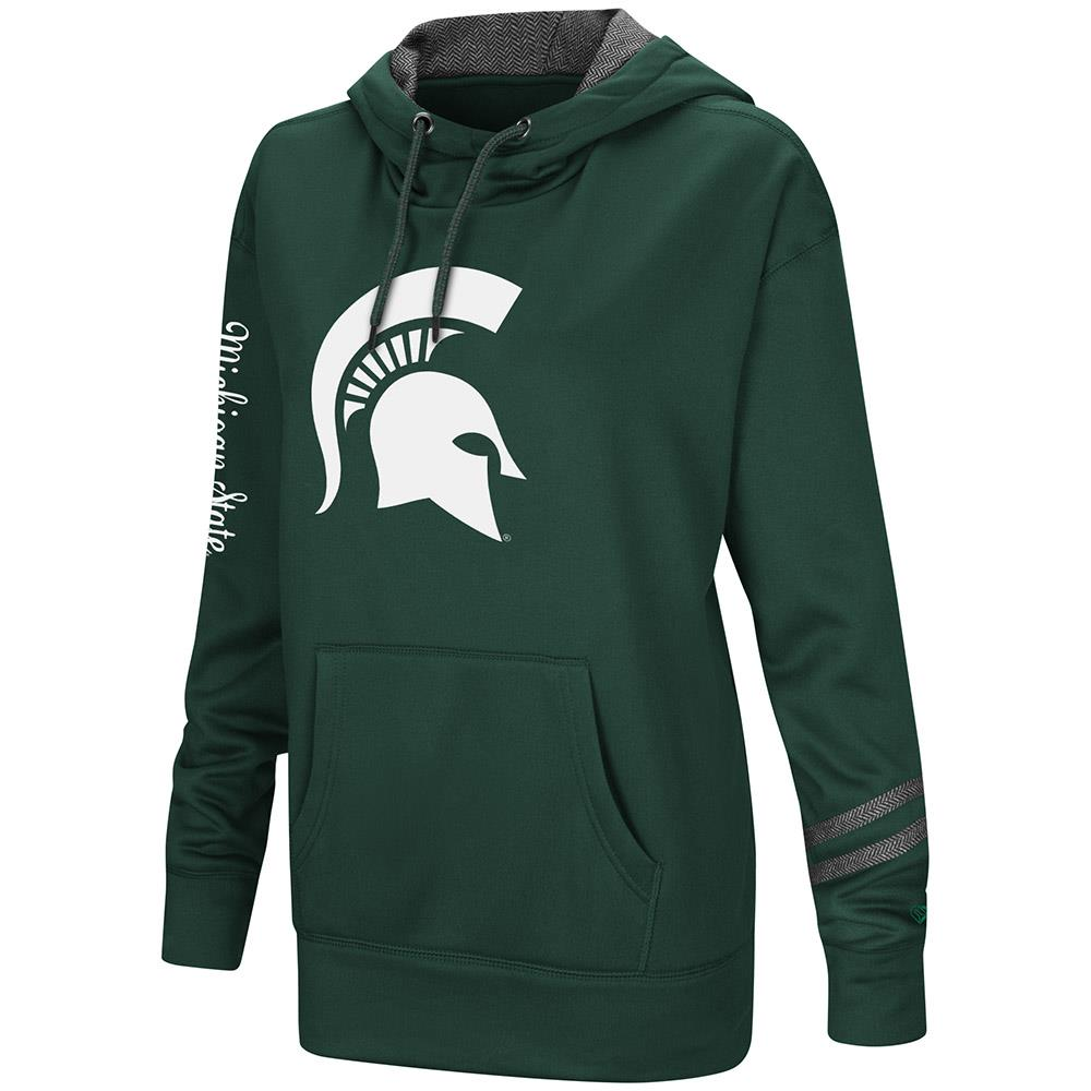 Womens Michigan State Spartans Poly Fleece Pull-over Hoodie by Colosseum