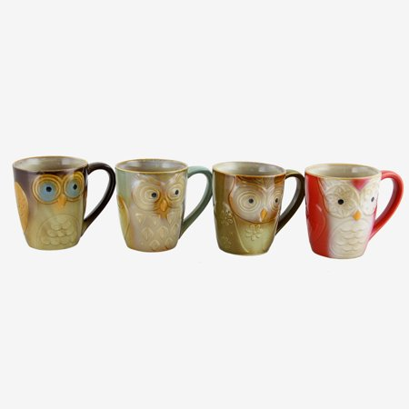 Bell Shape Mug (Gibson Owl City Owl Shape Mug Set 4pc)