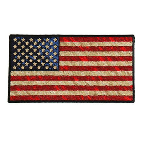 Distressed American Flag, High Thread Iron-on / Saw-on Rayon PATCH - 5