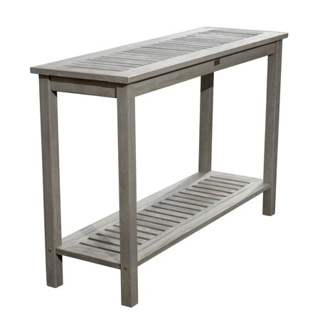Dty Outdoor Living Longs Peak Eucalyptus Console Table Outdoor