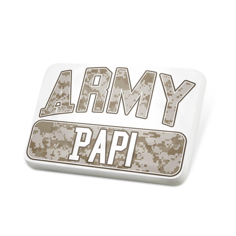 Porcelein Pin ARMY Papi, Camo Lapel Badge – NEONBLOND
