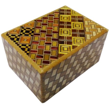 Open Japanese Puzzle Box - 3 Sun 12 Steps Yosegi Kuzushi - Japanese Puzzle Box