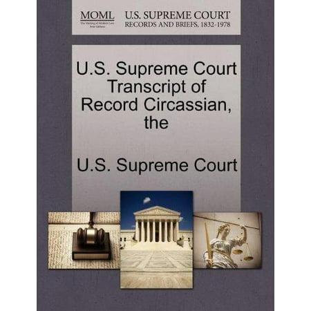 The U.S. Supreme Court Transcript of Record Circassian - image 1 of 1