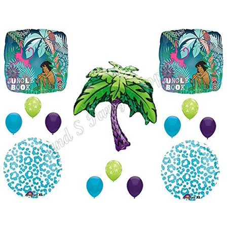 JUNGLE BOOK Happy Birthday Balloons Decoration Supplies Party Disney Mowgli Baloo (Jungle Birthday Supplies)