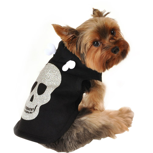 Simply Dog Skull Dog Hoodie, Black, (Multiple Sizes Available)