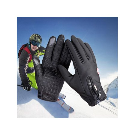 1 Pair Winter Sking Gloves Windproof Touch Screen Full Finger Cycling Gloves For Smart Phone Bike Bicycle Motor Riding