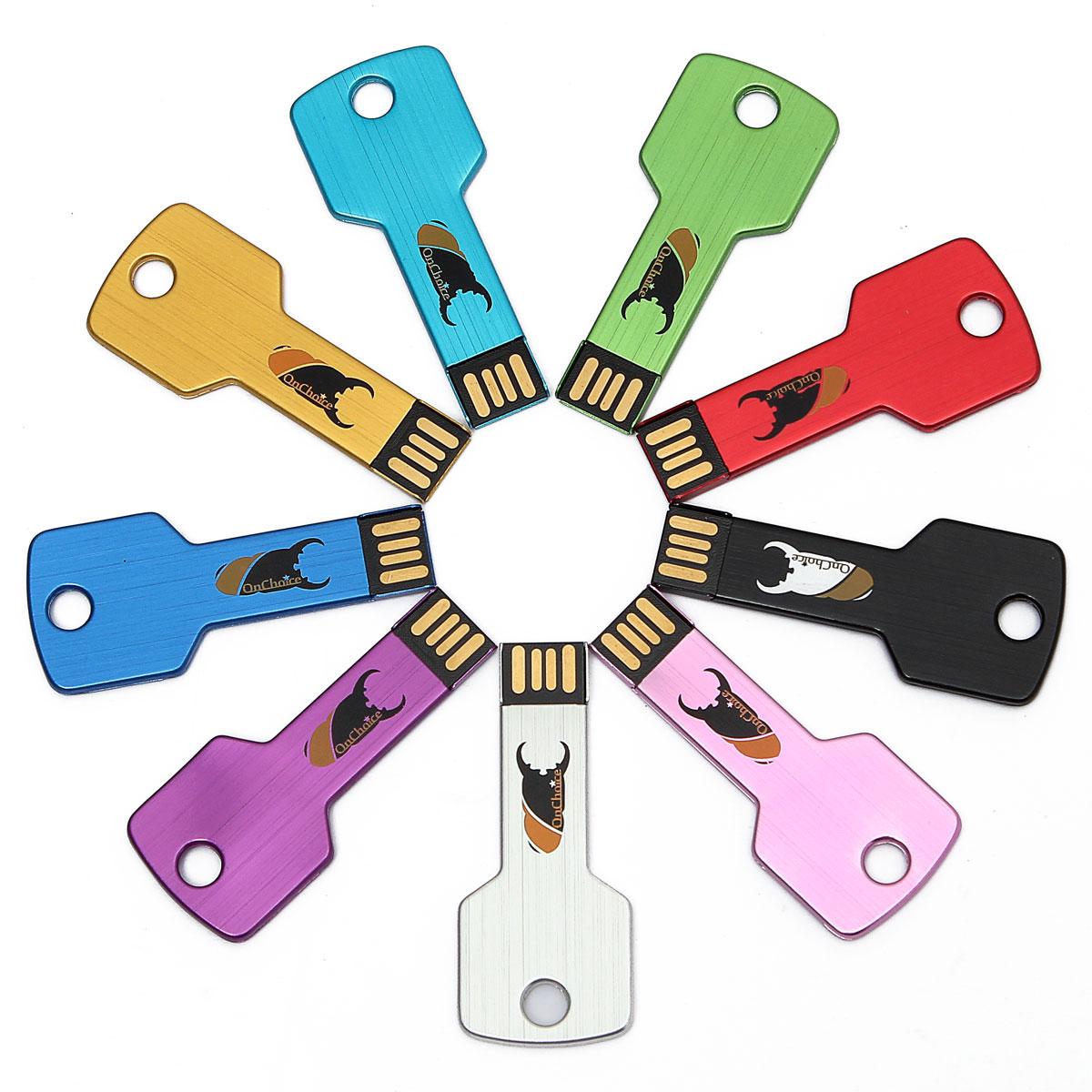 0nchoice 32GB USB 2.0 Waterproof Metal Key Flash Memory Stick Pen Drive Storage