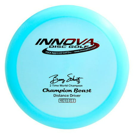 I-Dye Champion Material Beast Golf Disc, 165-169gm (Colors may vary), Turnover distance driver By Innova Disc Golf ()