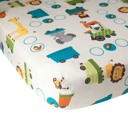 Lambs & Ivy Bedtime Originals Animal Choo Choo Express Crib Sheet