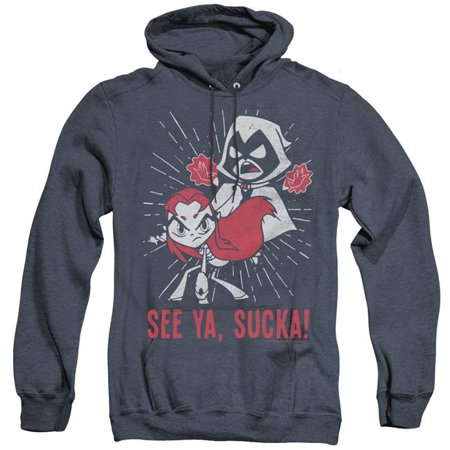Trevco Sportswear TTG126-AHH-3 T-Shirtn Titans Go & Suckas Adult Heather Hoodie, Navy - Large - image 1 of 1