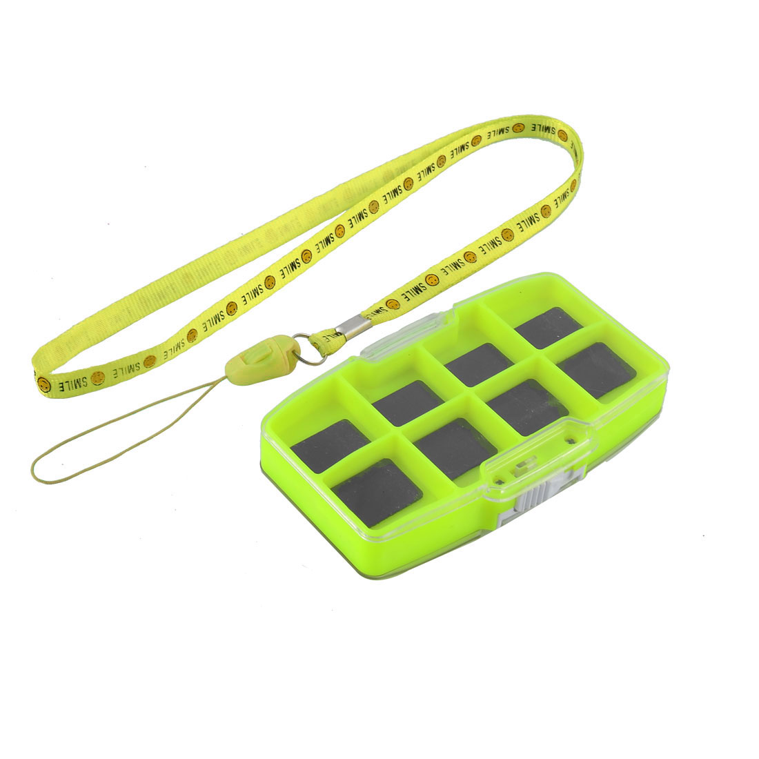 Fish Tackle 2 Side Magnetic 13 Compartments Fishing Hook Bait Box
