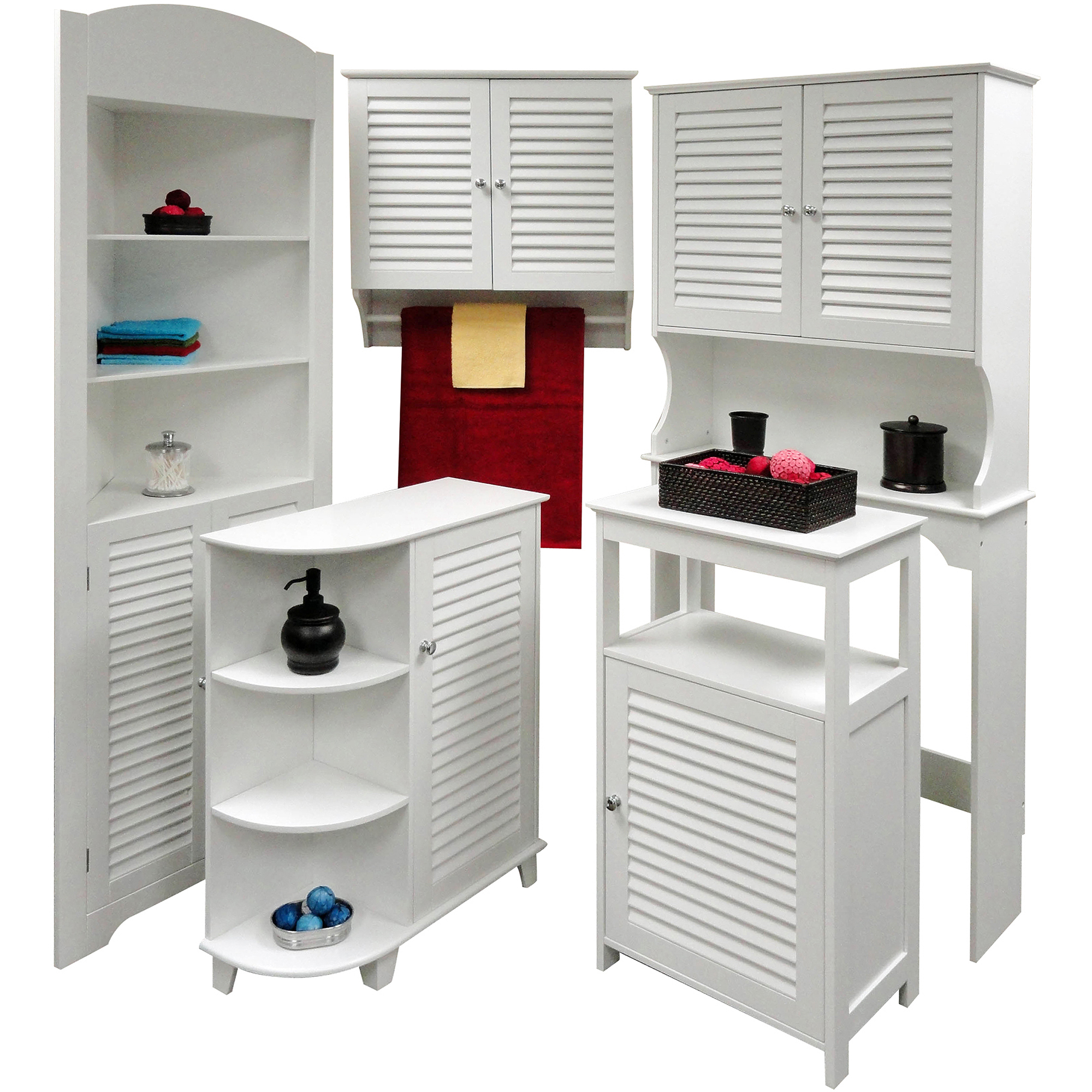riverridge home ellsworth single door floor cabinet, white