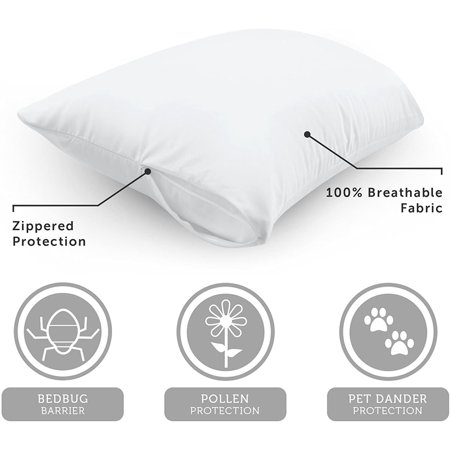 "AllerEase 14"" x 20"" Zippered Travel Pillow Protector, 1 Each"