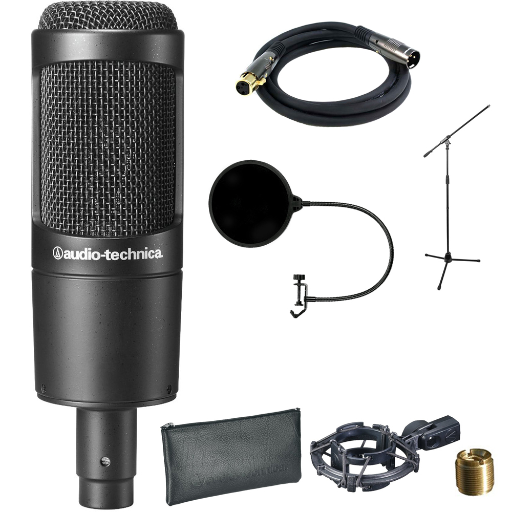 Audio-Technica Cardioid Condenser Microphone (AT2035) wit...