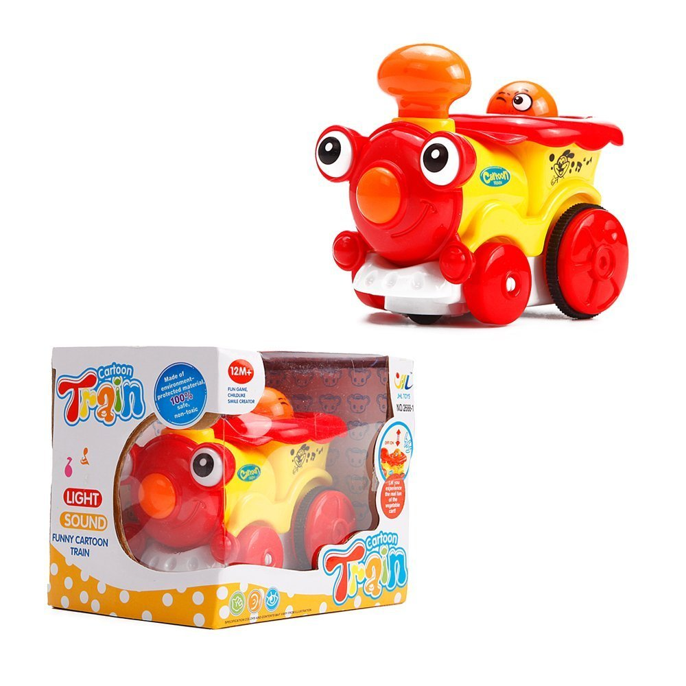 Toyerbee Vehicle With Music And Lights Cartoon Train For Kids