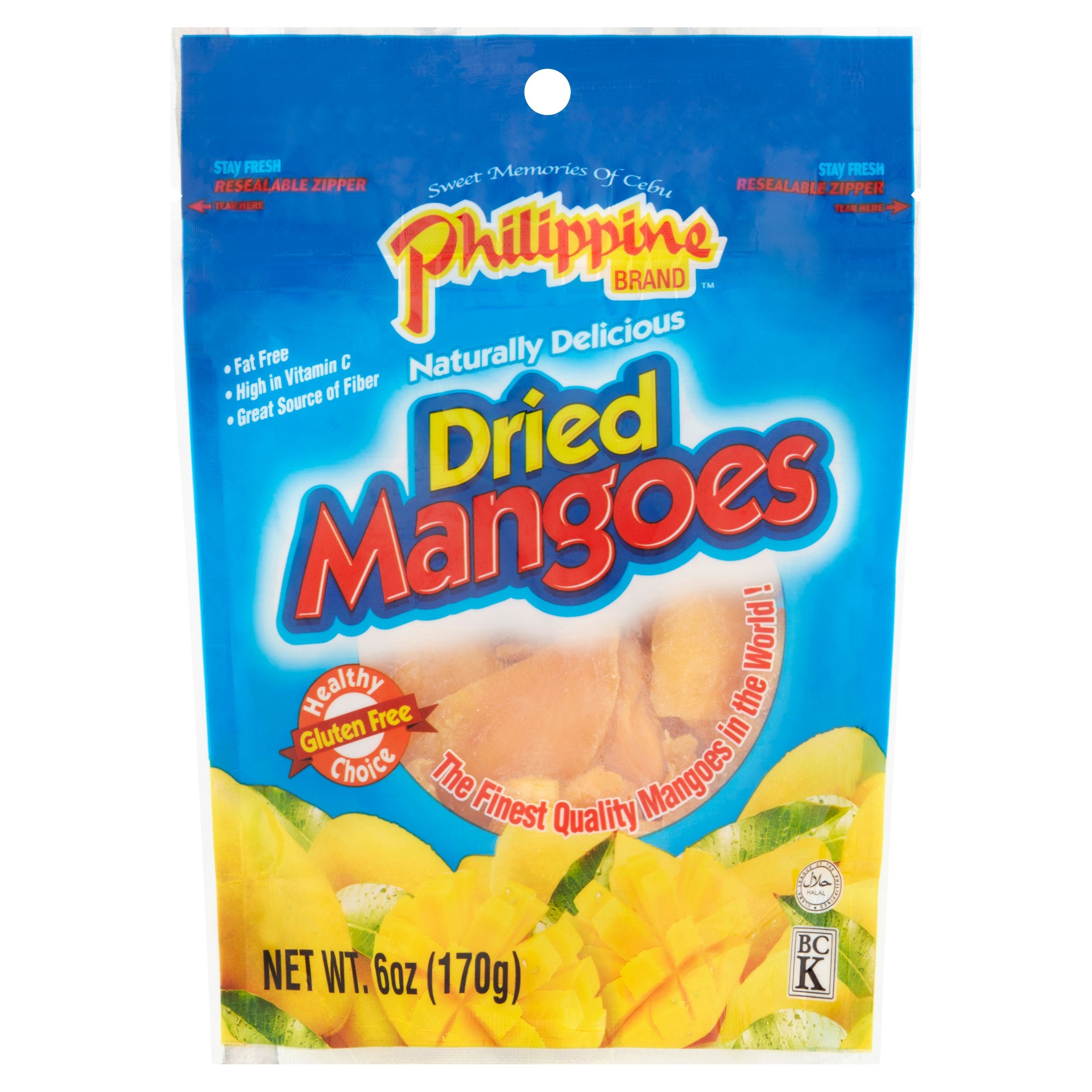 Philippine Dried Mangoes Fruit, 6 Oz.