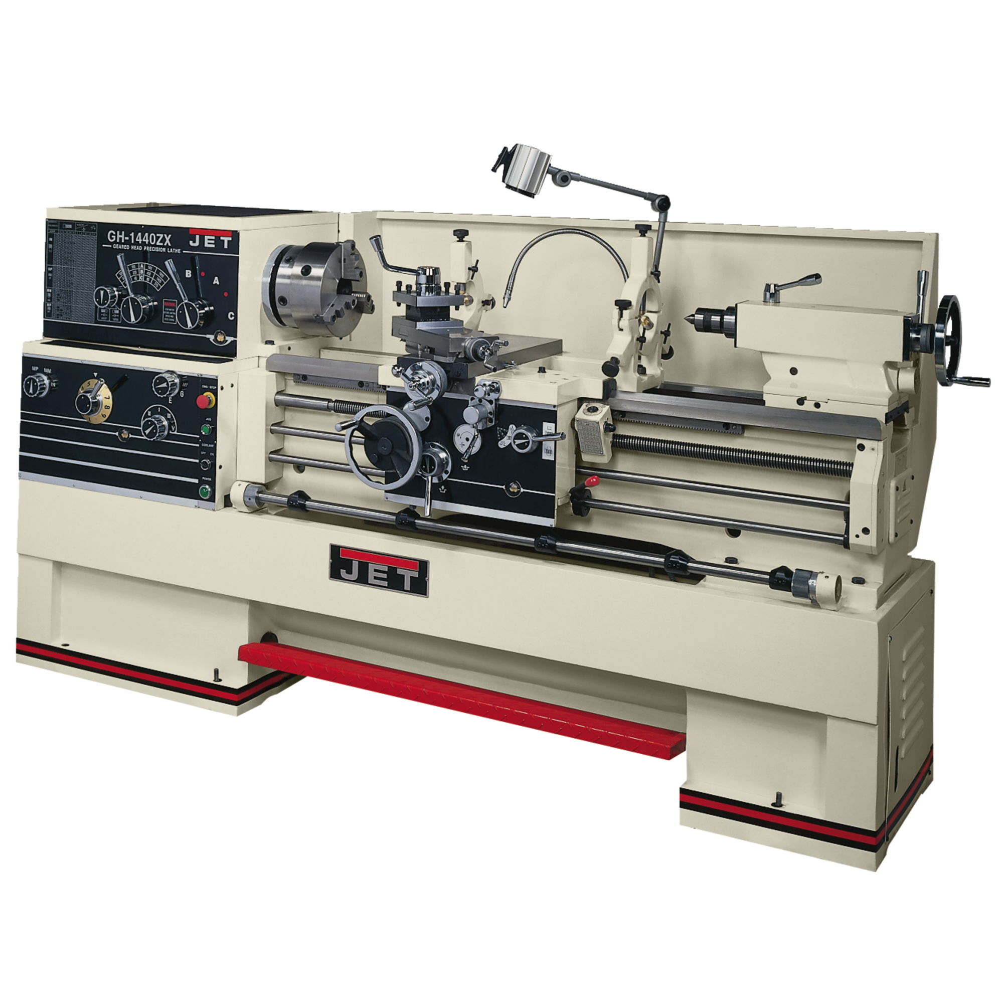 JET GH-1440W-1 1Ph Geared Head Engine Lathe With Newall DP700 DRO