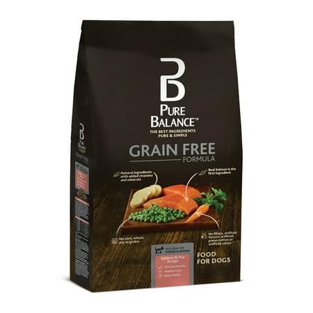 Pure Balance des grains Salmon gratuit et pois Recette nourriture pour chiens 11lbs