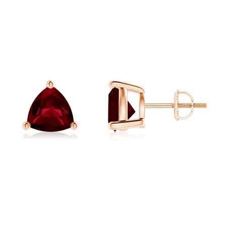 2e631da65 Angara - Mother's Day Jewelry Sale - Basket-Set Trillion Garnet Stud  Earrings in 14K Rose Gold (7mm Garnet) - SE0142G-RG-AA-7 - Walmart.com