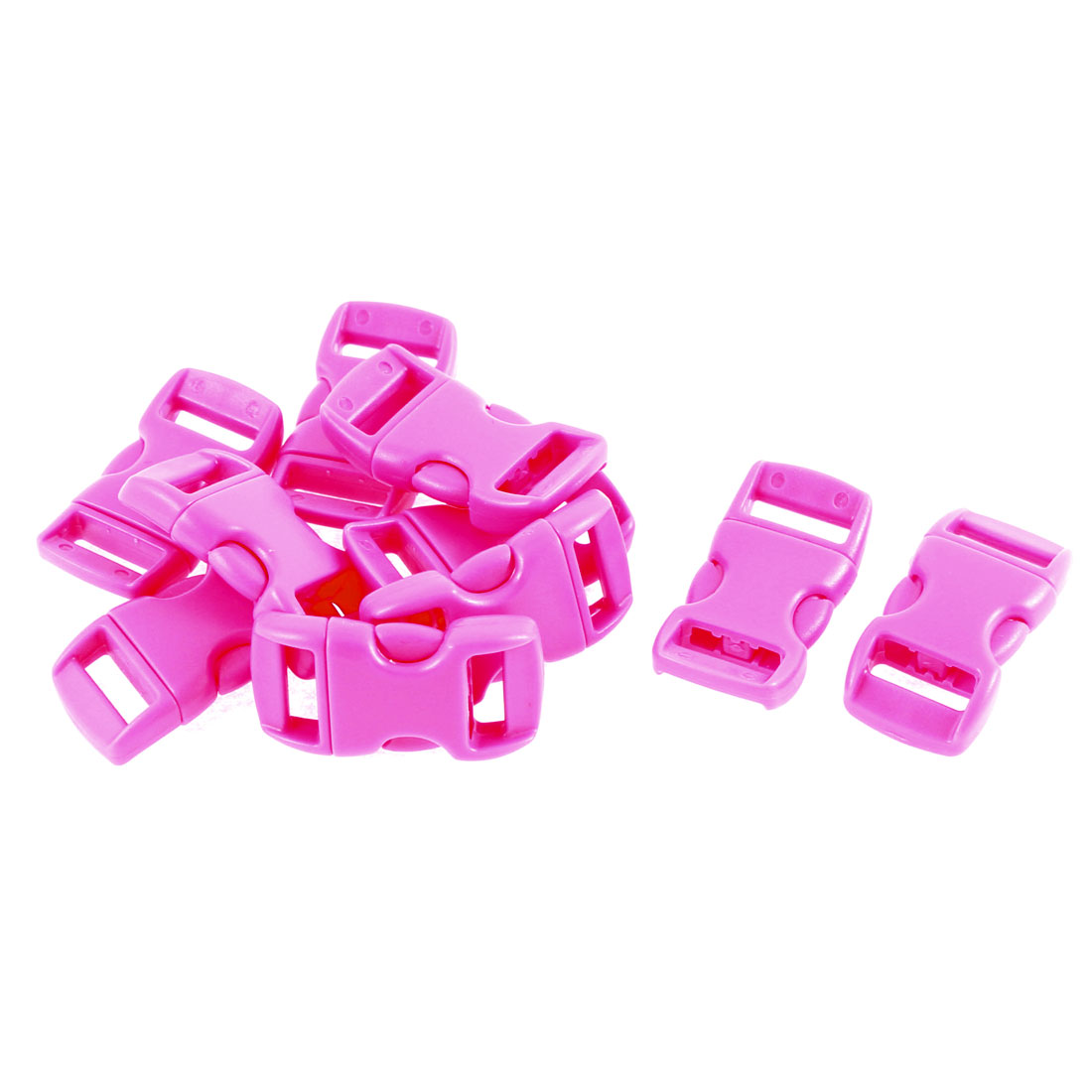 Unique Bargains Plastic Side Quick Release Clasp Buckles Purplish 11mm Webbing Strap 10pc