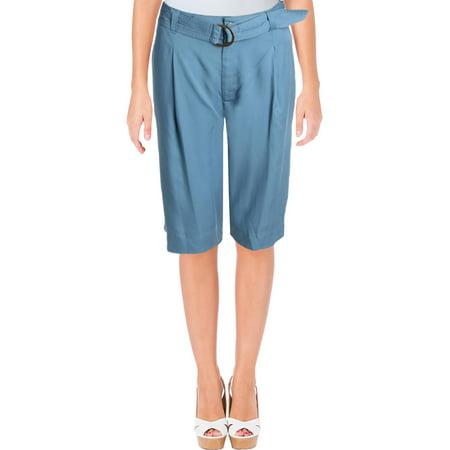Lauren Ralph Lauren Womens Twill Pleated Shorts