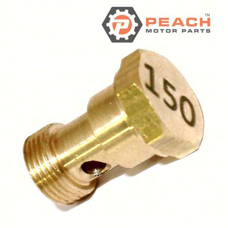 Peach Motor Parts PM-677-14343-75-00  PM-677-14343-75-00 Jet, Main (#150); Replaces Yamaha®: 677-14343-75-00, Makara Outboards®: T36-04000310