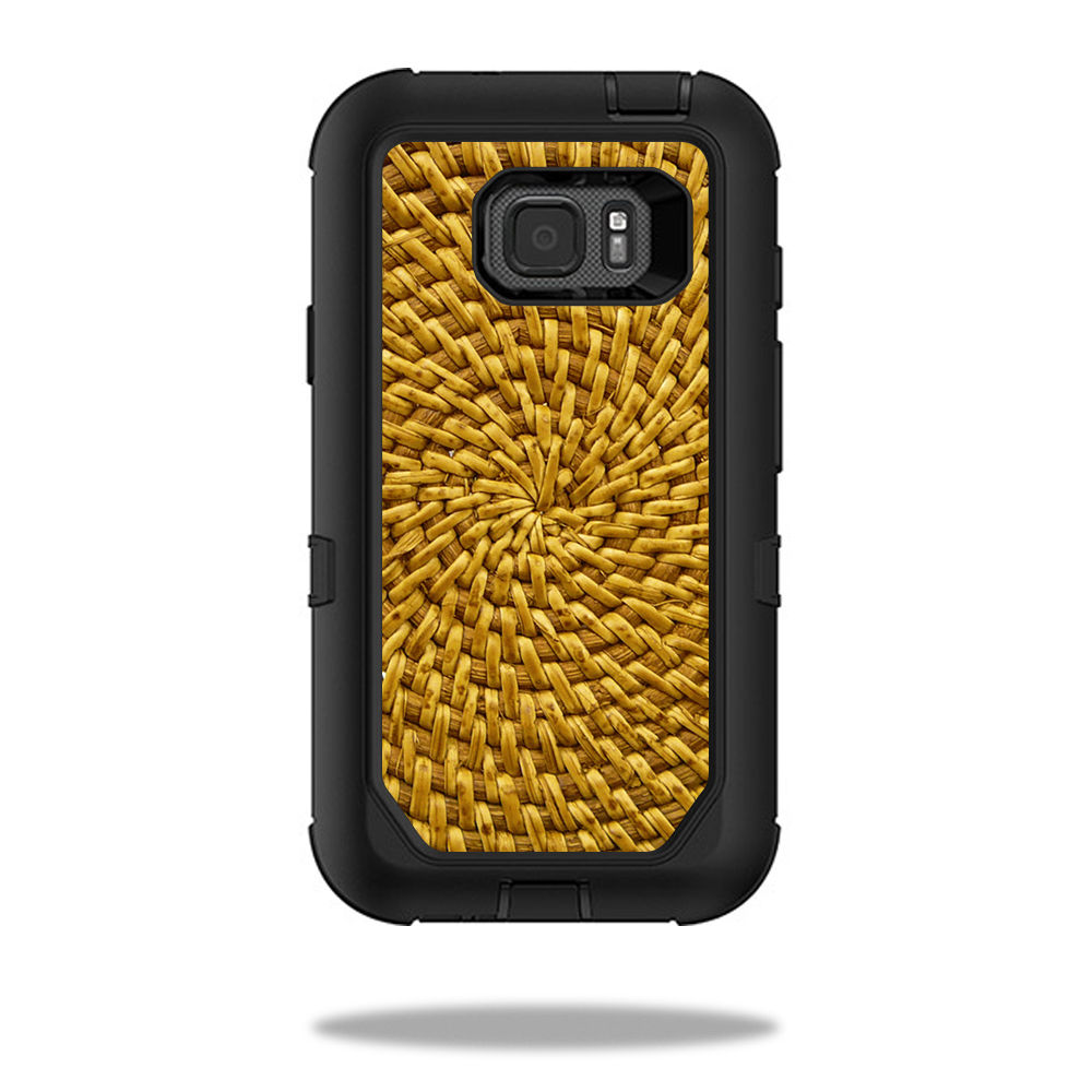 MightySkins Protective Vinyl Skin Decal for OtterBox Defender Samsung Galaxy S7 Active Case wrap cover sticker skins Circle Weave