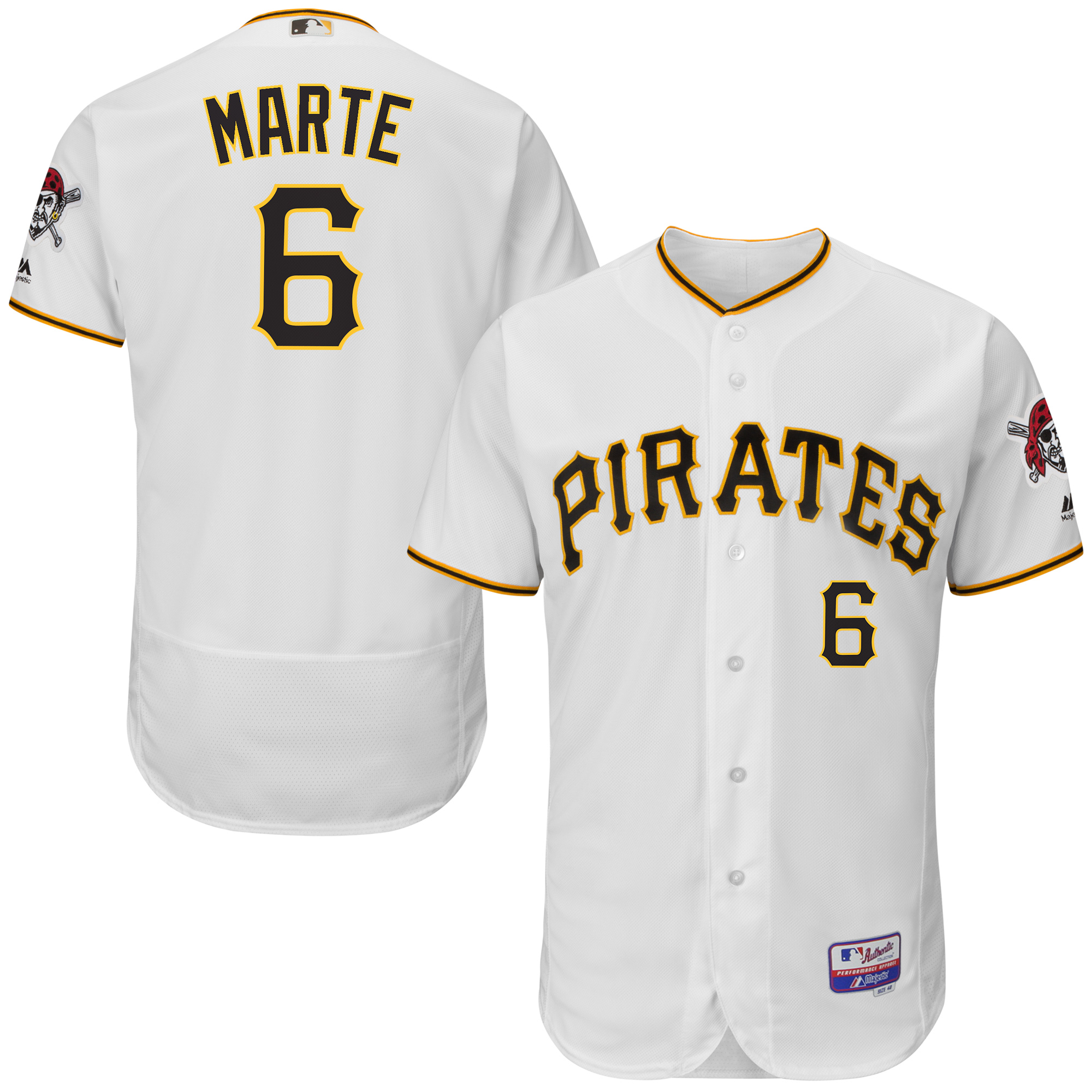 Starling Marte Pittsburgh Pirates Majestic Player Authentic Jersey - White
