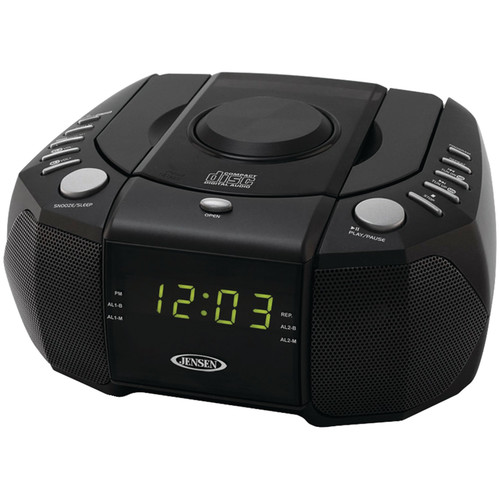Jensen JCR-310 Dual Alarm Clock AM FM Stereo Radio with Top-Loading CD Player by Jensen