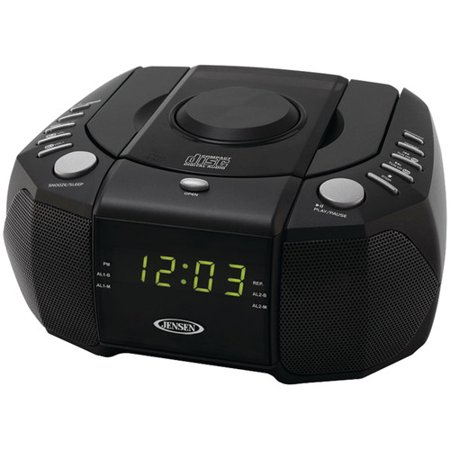 Jensen Jcr 310 Dual Alarm Clock Am Fm Stereo Radio With Top Loading Cd Player