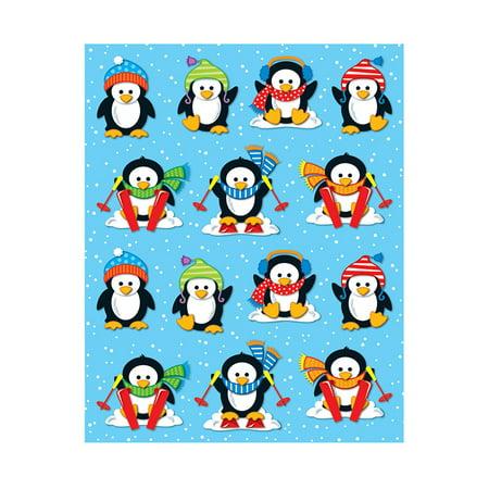 Penguins Shape Stickers 84Pk