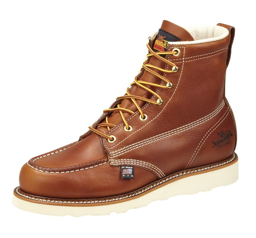 Thorogood Work Boots Mens Steel Toe Oil-Tanned Tobacco 804-4200