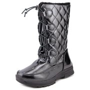 Tundra Sparkles Youth  Round Toe Synthetic Black Winter Boot