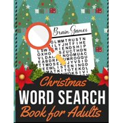 Christmas Word Search Book for Adults : Holiday themed word search puzzle book Puzzle Gift for Word Puzzle Lover Brain Exercise Game (Paperback)