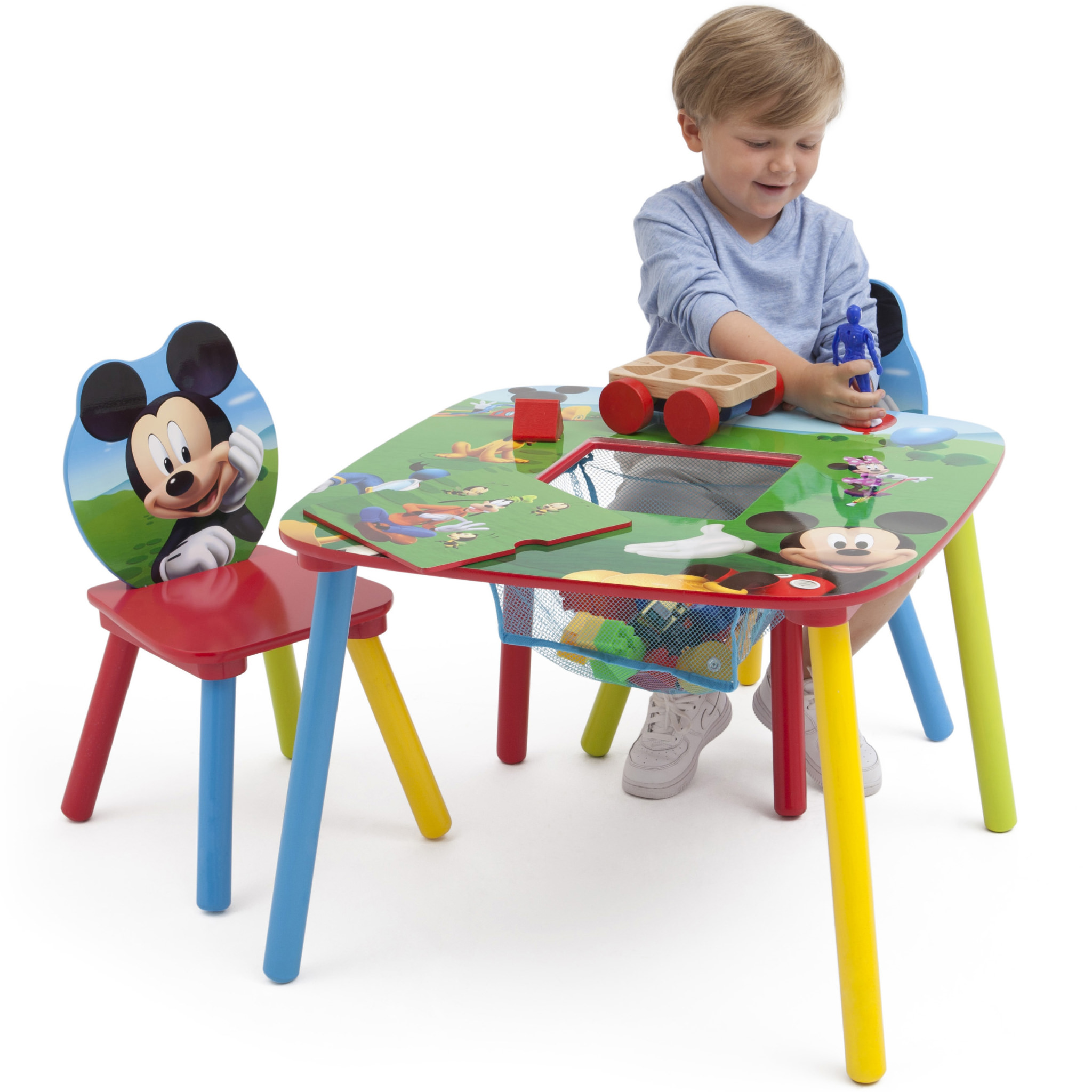 Mickey Mouse Toddler Table and Chair Set with Storage - Walmart.com