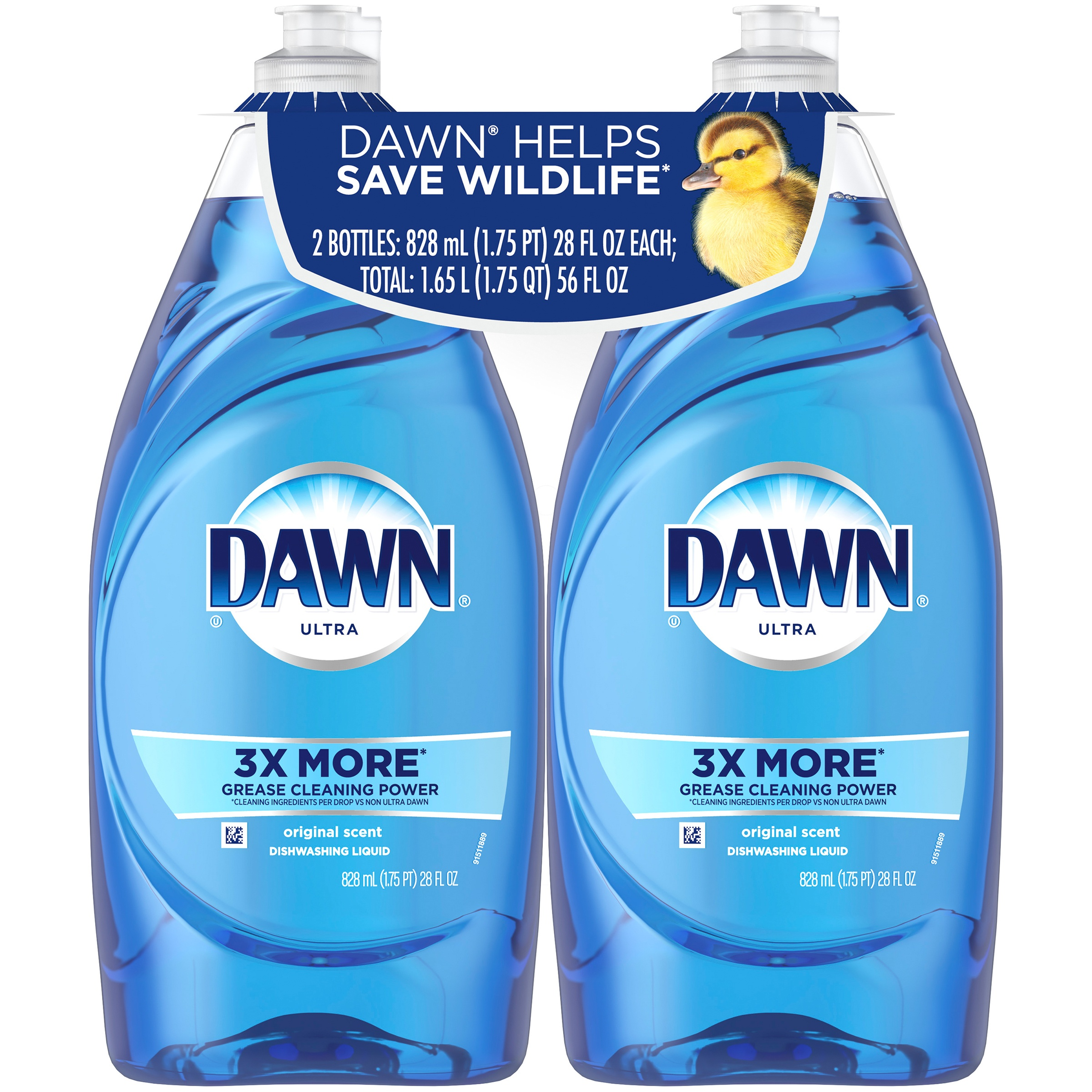Dawn Ultra Dishwashing Liquid Dish Soap Original Scent 2x28 oz