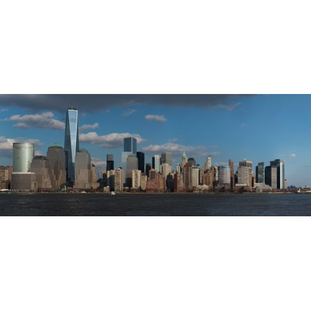 Panoramic view of New York City Skyline on water featuring One World Trade Center (8 x 10) Freedom Tower New York City New York USA City New York USA Poster Print (8 x 10) ()