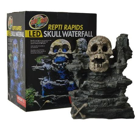 (Zoo Med Repti Rapids LED Skull Waterfall Medium - (11.5