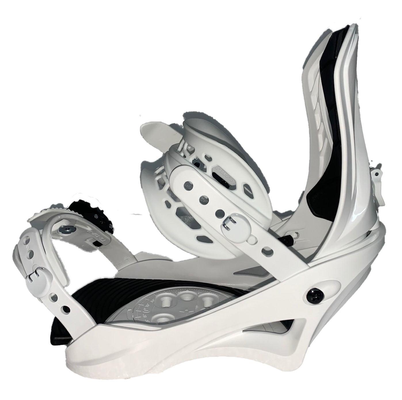 "White L//XL Women 10+ ALTITUDE /""Rider/"" 4X4 Burton 3D EST Snowboard BINDINGS"